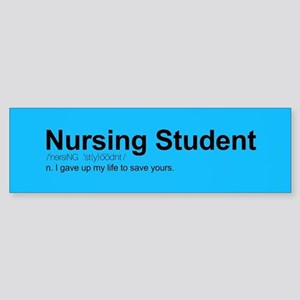 Nursing Student Definition Sticker (Bumper)