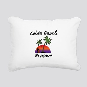Cable Beach Broome Austr Rectangular Canvas Pillow