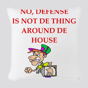 defense Woven Throw Pillow