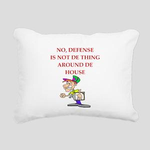defense Rectangular Canvas Pillow
