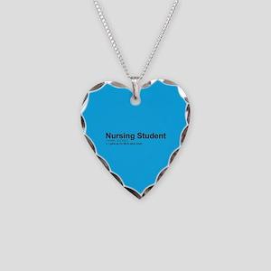 Nursing Student Definition Necklace Heart Charm