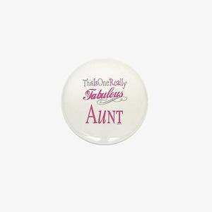 Fabulous Aunt Mini Button