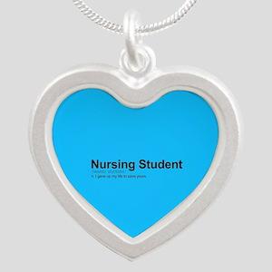 Nursing Student Definition Silver Heart Necklace
