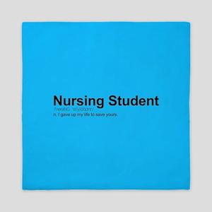 Nursing Student Definition Queen Duvet