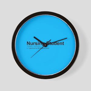 Nursing Student Definition Wall Clock