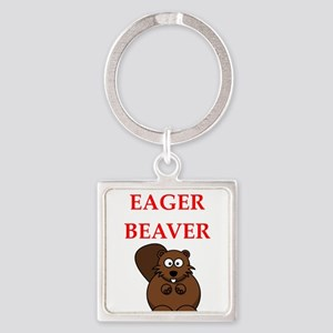 eager beaver Keychains