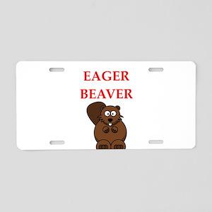 eager beaver Aluminum License Plate