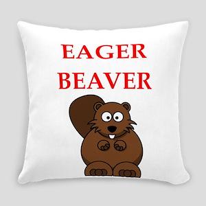 eager beaver Everyday Pillow