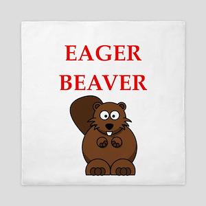 eager beaver Queen Duvet
