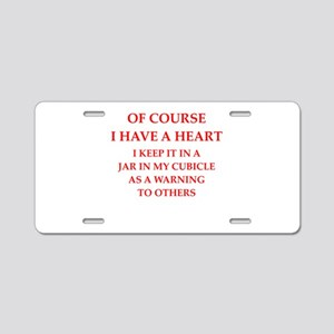 heart Aluminum License Plate