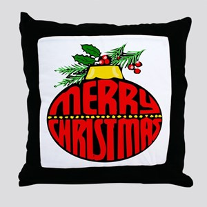 Merry Christmas Orn Throw Pillow