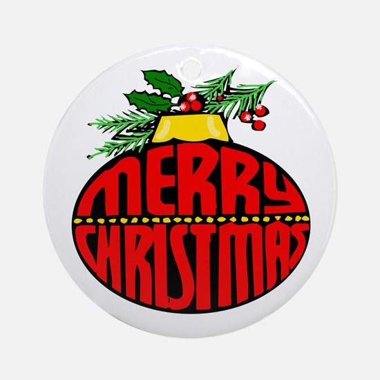 Merry Christmas Orn Ornament (Round)