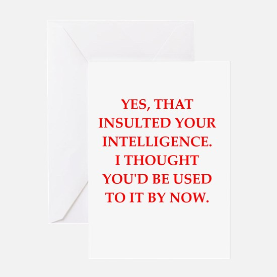 intelligence Greeting Cards