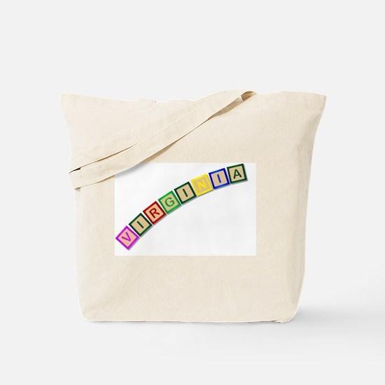 Cute State alphabet Tote Bag