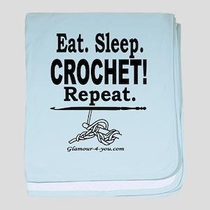 Eat. Sleep. CROCHET! Repeat. baby blanket