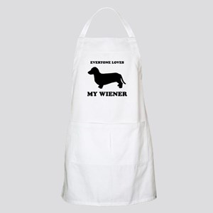 Everyone loves my wiener BBQ Apron