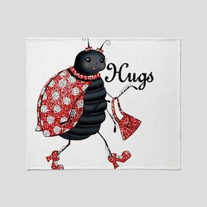 Ladybug Hugs Throw Blanket