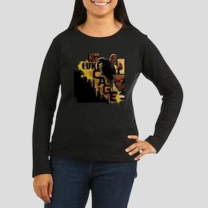 Luke Cage Standin Women's Long Sleeve Dark T-Shirt