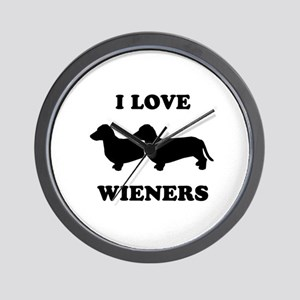 I love my wieners Wall Clock