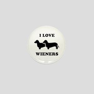 I love my wieners Mini Button