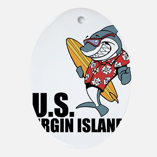 U.S. Virgin Islands Oval Ornament
