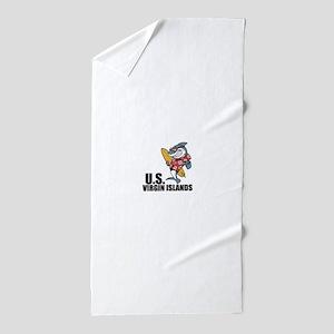 U.S. Virgin Islands Beach Towel