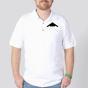Stealth Bomber Silhouette Golf Shirt