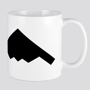 Stealth Bomber Silhouette Mugs