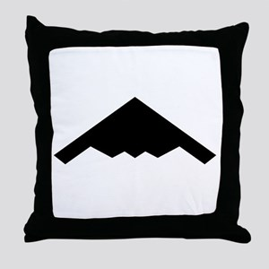 Stealth Bomber Silhouette Throw Pillow