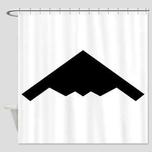Stealth Bomber Silhouette Shower Curtain