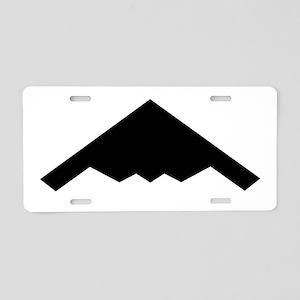 Stealth Bomber Silhouette Aluminum License Plate