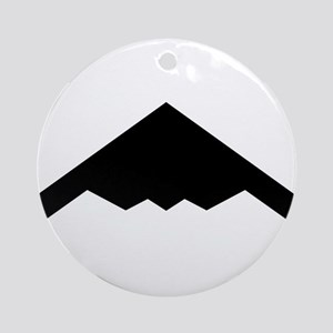 Stealth Bomber Silhouette Round Ornament