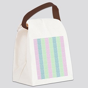 Pastel Baby Shaded Herringbone Canvas Lunch Bag