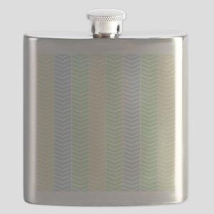 Natural Pastel Herringbone Flask