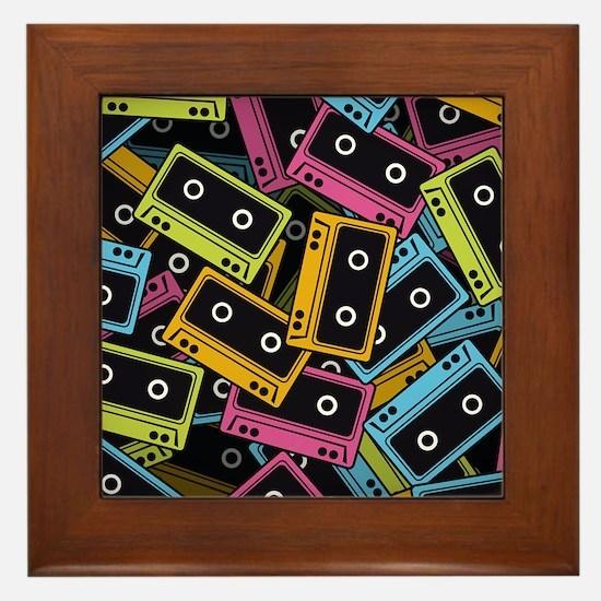 Music Cassettes Framed Tile