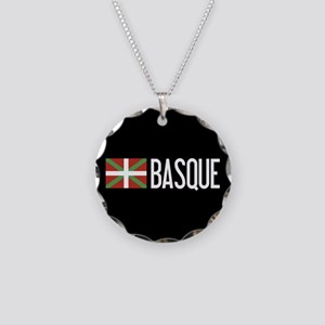 Basque Country: Basque Flag Necklace Circle Charm