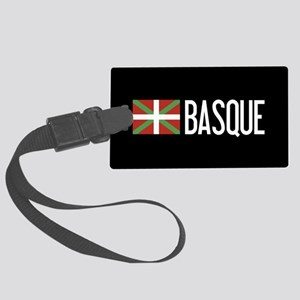 Basque Country: Basque Flag & Ba Large Luggage Tag