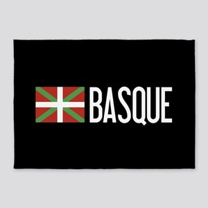 Basque Country: Basque Flag & Basqu 5'x7'Area Rug