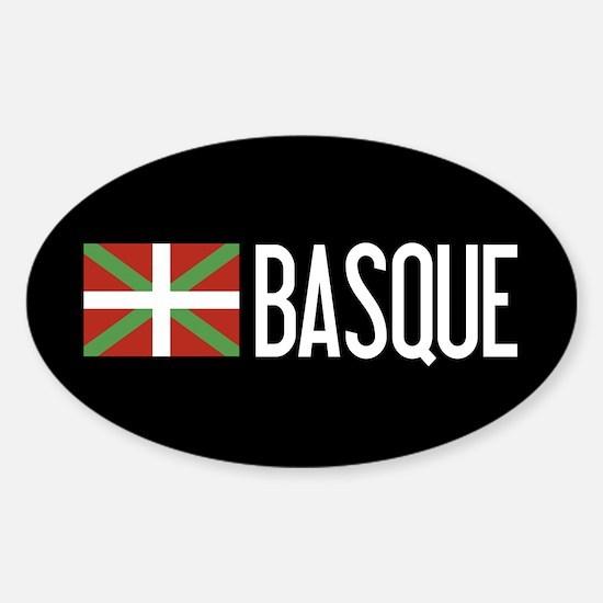Basque Country: Basque Flag & Basqu Sticker (Oval)
