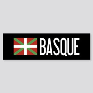 Basque Country: Basque Flag & Bas Sticker (Bumper)