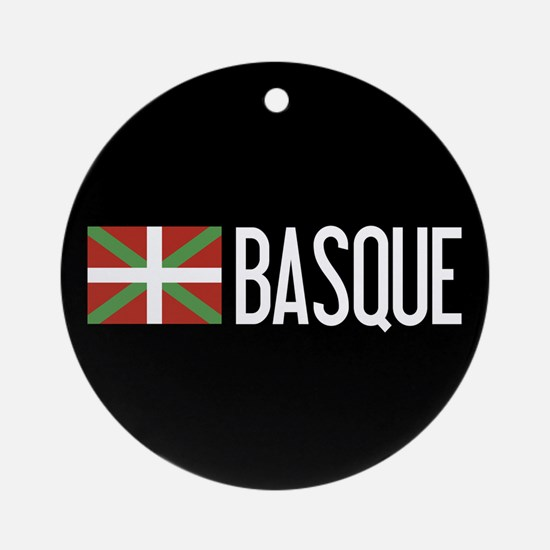 Basque Country: Basque Flag & Basqu Round Ornament