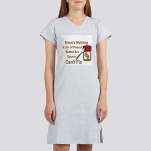 THERE'S NOTHING A JAR OF PEANUT Women's Nightshirt
