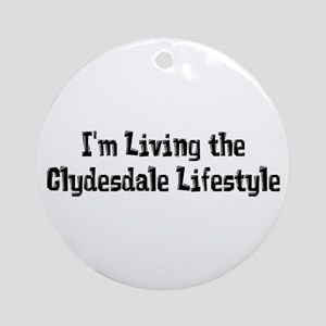 Clydesdale Lifestyle Ornament (Round)