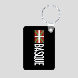 Basque Country: Basque Fla Aluminum Photo Keychain