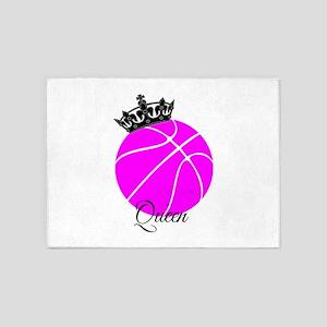 Basketball Queen 5'x7'Area Rug