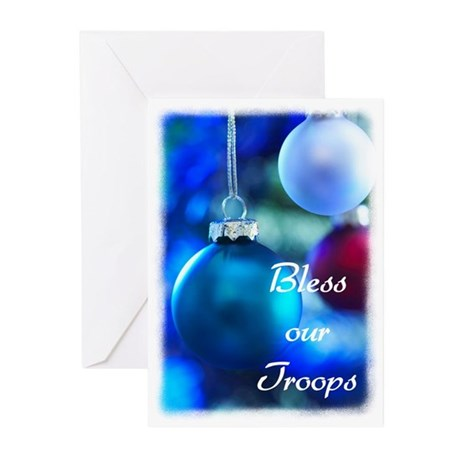 Bless our Troops Greeting Cards (Pk of 20)