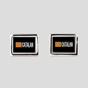 Catalunya: Catalan Flag & Ca Rectangular Cufflinks