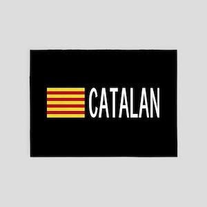 Catalunya: Catalan Flag & Catalan 5'x7'Area Rug