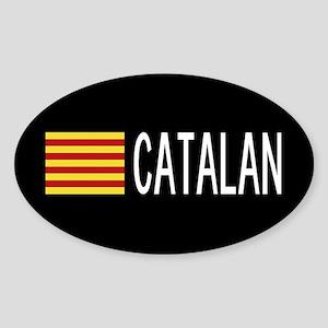 Catalunya: Catalan Flag & Catalan Sticker (Oval)