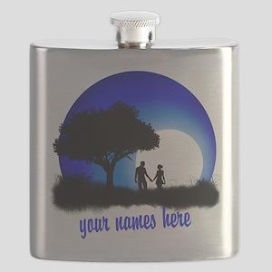 Moonlight Couple Love Flask